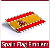 Oxgrow (TM) auto Car Alu emblema distintivo adesivo decalcomania per la Spagna Espana nazionale bandiera New auto adesivo distintivo bandiera nazionale adesivi per auto