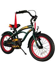 bike*star 40.6cm (16 pulgada) Bicicleta para niños - Cruiser - Verde