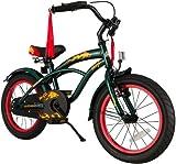 BIKESTAR® Premium Design Kinderfahrrad für coole Kids ab 4 Jahren ★ 16er Deluxe Cruiser Edition ★ Crocodile Grün