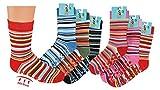 TippTexx 24 6 Paar Kinder Thermo Stoppersocken, ABS Socken für Mädchen und Jungen, Ökotex Standard, Strümpfe mit Noppensohle, viele Muster