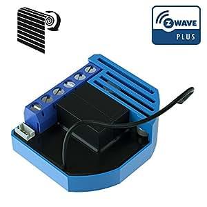 QUBINO Zmnhcd1 Z-Wave–Module de contrôle pour volet roulant - Bleu