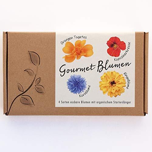 GOURMET BLUMEN Blumensamen-Geschenkbox - 4 Sorten essbare Blüten -