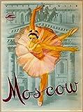 ABLERTRADE - Targa in Metallo da Parete con Scritta in Lingua Inglese Visit The USSR Moscow Russia, 20 x 30 cm