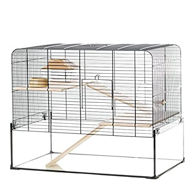Little Friends Savoy Gerbilarium Cage with Accessories, 58.5 x 38 x 47.5 cm by Little Friends