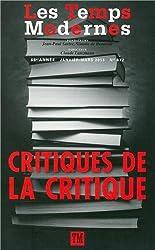 Les Temps Modernes: Critiques de la critique