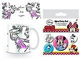 Set: Minni Maus, Sweet Foto-Tasse Kaffeetasse (9x8 cm) Inklusive 1 Minni Maus Button Pack (15x10 cm)