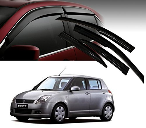 Auto Pearl - Premium Quality Car Rain Wind Door Visor Side Window Deflector For - Maruti Suzuki New Swift Old - Set Of 4 Pcs  available at amazon for Rs.1199