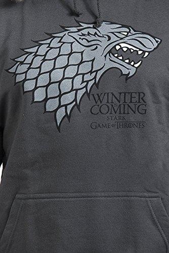 Indie Go Juego de Tronos House Stark Winter Is Coming Sudadera con Capucha Gris