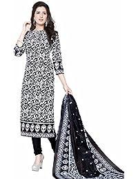 908b4b71f6 Salwar House Women's Synthetic Dress Material (SHDCSAPANA-1643_Free  Size_White)