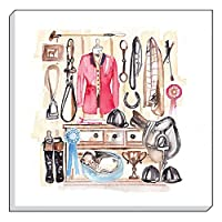 Evans Lichfield Horse Tack Room Canvas Wall Art Picture 40cm from Evans Lichfield