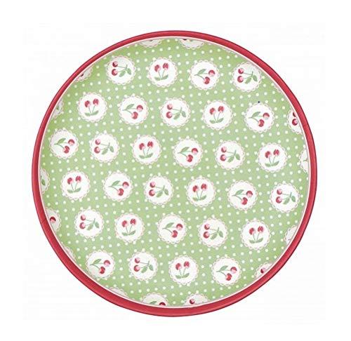 Greengate BAMPLACHB3906 Cherry Berry Assiette à Petit déjeuner Vert 20 cm