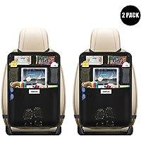 Aoafun 2 Pack Organizadores para Asientos de coches , Protección para Asientos Trasero de Coche Back,asiento trasero Cubiertas para coches con sostenedor de tablet-bolsillo de pantalla táctil.