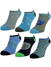 6 oder 12 Paar Kinder Sneaker Socken Jungen & Mädchen Baumwolle Kindersocken - sockenkauf24