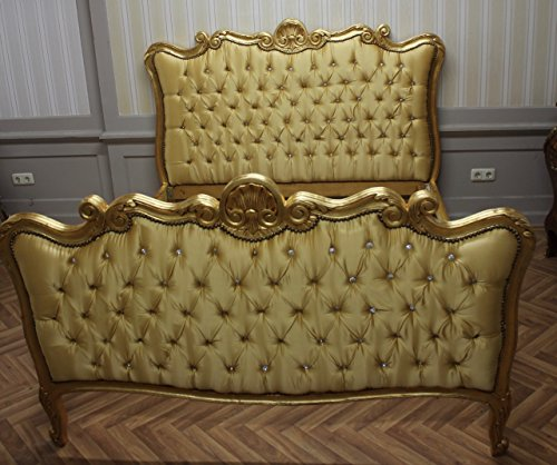 LouisXV Barock Bett Rokoko Louis XV MkBd0074 Antik Stil Massivholz. Replizierte Antiquitäten Buche...