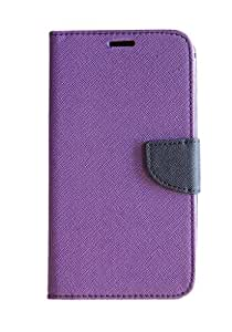 Vikreta Flip Cover For Micromax Canvas 2/A110 - Purple