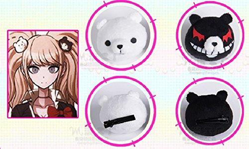 High-School-Sch?ler wie Enoshima Tate-ko Gakuen zu Zetsubou Dangan Ronpa hoffen (Junko Enoshima) Monokuma Haarschmuck / Haarnadel Werkzeug Anime Cosplay (Kostüm Junko Enoshima Cosplay)