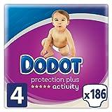 Dodot Protection Plus Activity Pañales Talla 4 (9-14 kg) - 186 Pañales