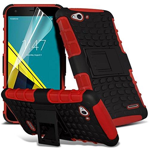 Vodafone intelligente 6 cas Titulaire ultra de téléphone Universal Support de voiture tableau de bord et pare-brise pour iPhone yi -Tronixs Shock proof (Red)