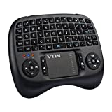 Mini Clavier Sans Fil 2.4GHz VicTsing Clavier AZERTY 73 Touches avec Pavé Tactile Haute Sensibilité Touchpad Rétroéclairage LED Batterie Rechargeable Lithium 800mA pour Smart TV, Mini PC, HTPC, Console, Ordinateur, iOS, Android, Windows, Linux, Raspberry Pi, etc