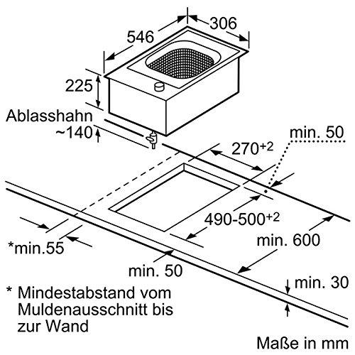 Neff NK 3430 N Kochfeld Elektro / edelstahl / 30,6 cm / Elektro-Fritteuse mit integriertem Temperaturregler / schwarz - 3