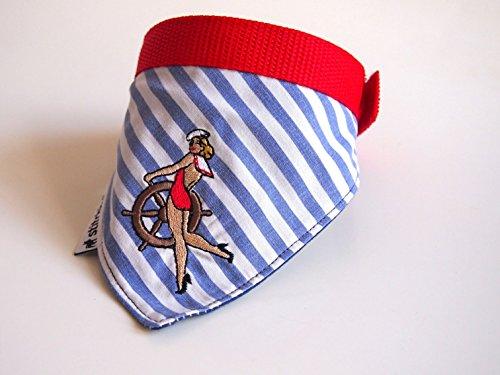 Pin Up Girl Halstuch für Hunde der Serie Glaube-Liebe-Hoffnung von stitchbully für kleine MatrosenHT0010 (Tattoo Piraten Pin Up Girl)