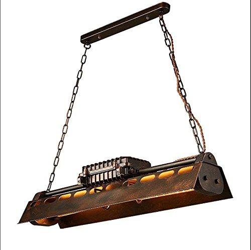 Retro Industriellen Stil Kronleuchter Loft Kreative Retro Restaurant Cyber   Cafe Büro Bar Eisen Kronleuchter Vintage Metall Lampe Rohr Flöte Rohr Pendelleuchte YDYG (Farbe : Rust+Tungsten Flute) -