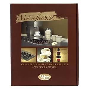 Wpro 97064 cafeti re espresso rangement tiroir capsules compatible nespre - Rangement dosette dolce gusto ...