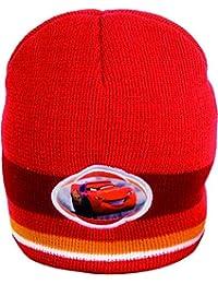 Disney cars 305622 bonnet en tricot pour enfant rouge
