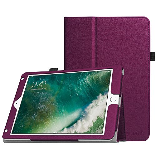 Fintie Folio Hülle für iPad 9.7 Zoll 2018 2017 / iPad Air 2 / iPad Air - [Eckenschutz] Slim Fit Kunstleder Schutzhülle Case mit Ständer und Auto Schlaf/Wach Funktion, Lila