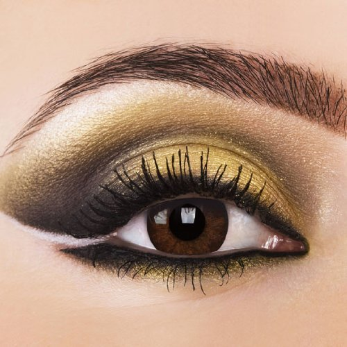 Farbige Kontaktlinsen NATUREL BROWN, Natürlich Braun. 12-Monatslinsen, Color Contact lenses 1 Paar (2 Stück) Eye Effect