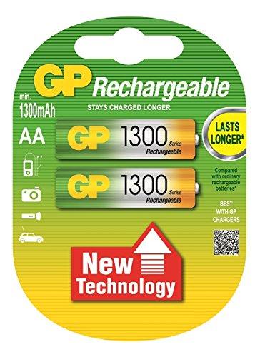 Galleria fotografica GP Batteries Rechargeable batteries 2x AA 1300mAh