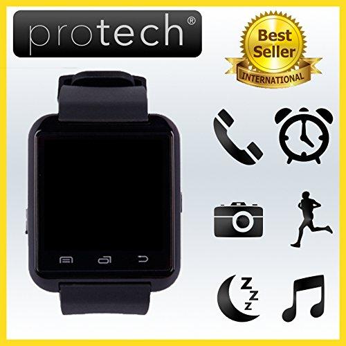 ✔️ PROWATCH - Smartwatch compatibile con Android e Iphone ORIGINALE di PROTECH ITALIA - AZIENDA ITALIANA - SIAMO gli UNICI a fornire gli Smartwatch con ISTRUZIONI TUTORIAL VIDEO in ITALIANO e GARANZIA 24 MESI - Smartwatch orologio touch intelligente PW8 - Compatibile con Android IOS iPhone 7 7 Plus, 6 plus S, 6S, 6plus, 6, 5S, 5C, 5, 4S, 4, Android Samsung Galaxy 4, Note 3, Note 2, S5, S4, S3, HTC, BlackBerry, LG, Sony, Huawei