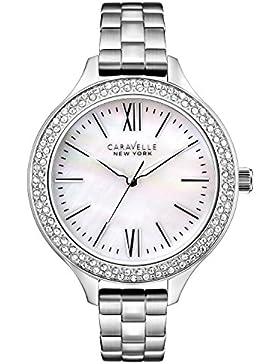 Caravelle New York Damen-Armbanduhr Analog Quarz Edelstahl 43L165