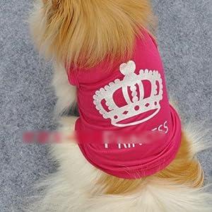 HuntGold neue nette Haustier Hund Prinzessin T shirt Kleidung Weste Sommer Mantel Welpen Kostüme Outfit(Größe:S)