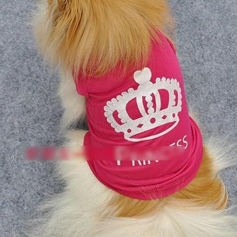 HuntGold New Cute Pet Dog Princess T-shirt Clothes Vest Summer