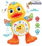 Ramakada Dancing Duck Toy with Real Dance Action and Music Flashing Lights, Multi