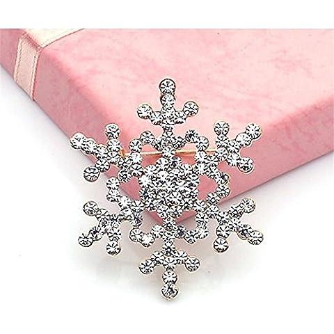 Starvy (TM) 2016 Moda Pin Spilla cristallo strass grande fiocco di neve inverno neve Tema 21 set