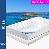 Ibiza - Pack Matelas + Tapissier 130x190