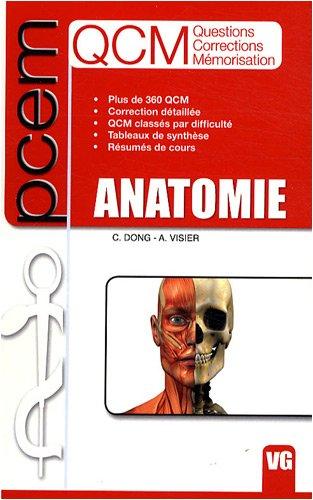 QCM Anatomie PCEM