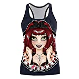 MIRRAY Damen Halloween Leibchen Camisole Gedruckt Mode Crop Tank Tops Ärmelloses T-Shirt