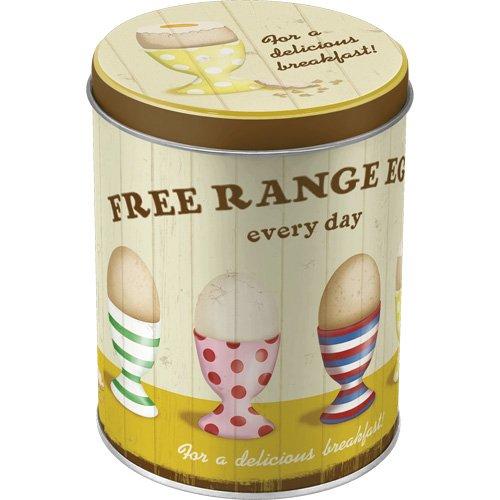 caja redonda de stock - Free Range Eggs