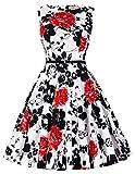 50er jahre kleid rockabilly kleid retro hepburn stil abschlussballkleid festliches kleid Größe 2XL CL6086-37