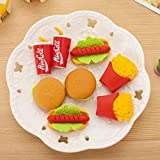 #10: Glorygifts Burger Rubber Pencil Eraser for Kids (Stationery Gift,Pack of 48)