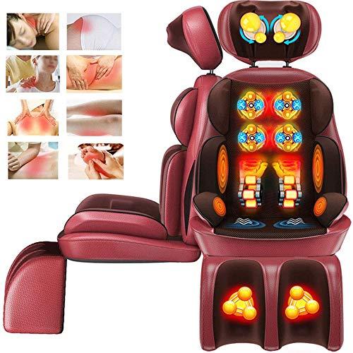 Shiatsu Massagesessel Rücken Massagegerät Massagesitzauflage mit Wärmefunktion und nackenmassage für Hals Rücken Oberschenkel und Hüften gegen Müdigkeit und Schmerzen