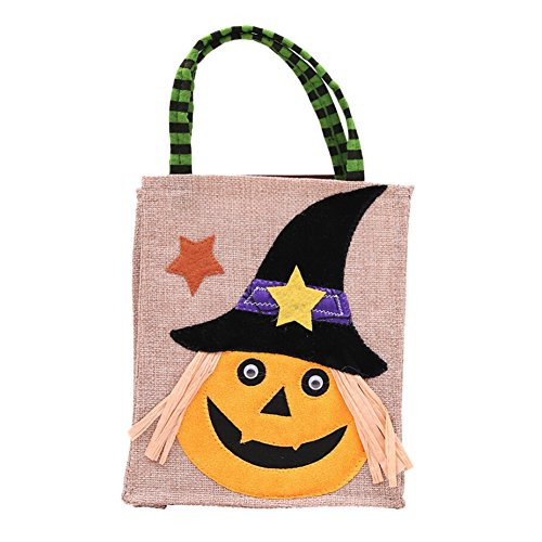 (Wingbind Halloween Süßigkeiten Geschenke Taschen, Halloween Kürbis Gespenst Skeleton Animierte Dekor Vliesstoffe Taschen, Halloween Party Supplies Requisiten)