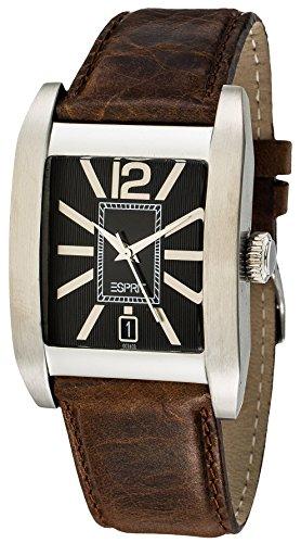 Esprit ES100341004 - Reloj analógico para caballero de cuero negro