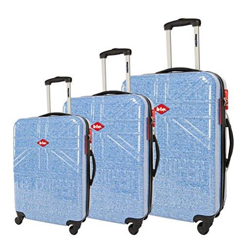 lot 3 valises-chariots 4 roues- système trolley intérieur- entièrement doublé