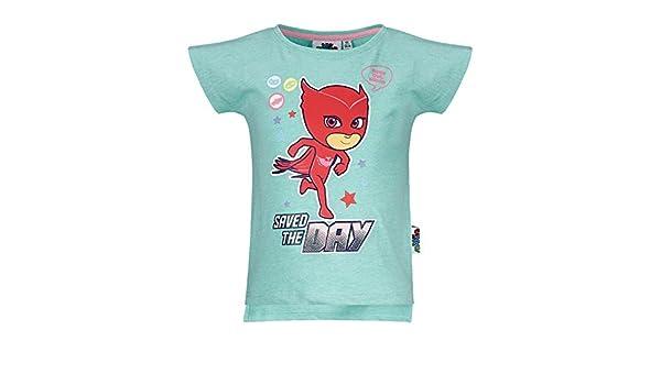 PJ Masks T-Shirt Originale Gufetta Super pigiamini Prodotto Originale Bianca Taglia 2 Anni