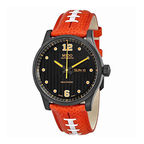 Mido Multifort MD M005.430.36.050.80 Black/Red Leather Analog Automatic Men's Watch