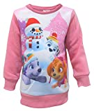Girls Official Paw Patrol Festive Lets Snow Christmas Jumper Sweatshirt Everest & Skye